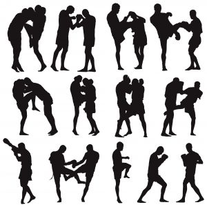 Renovations - Gold Coast - MTB Constructions - Muay Thai martial art vector silhouettes collection