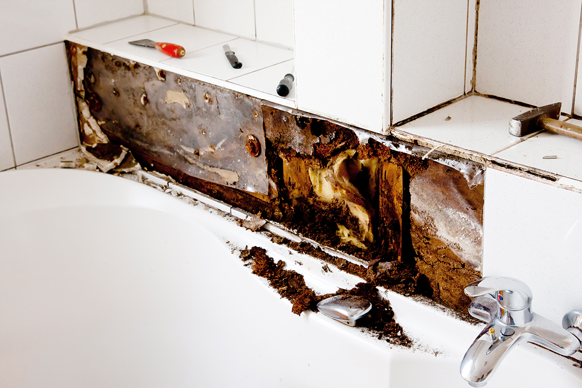 Tips for remodeling your bathroom after water damage